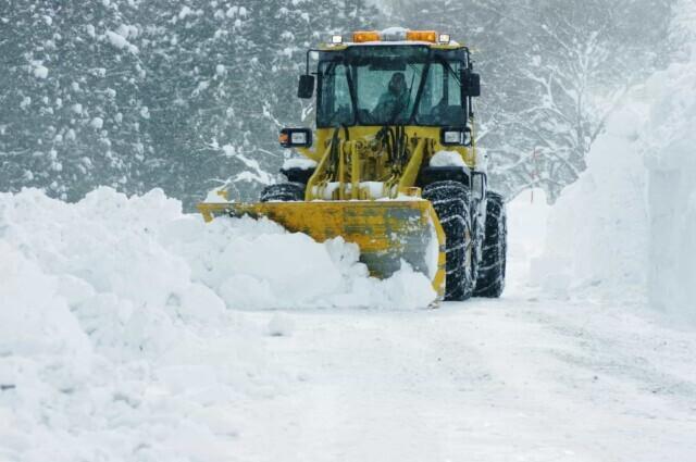 除雪車が大雪の日に活躍する
