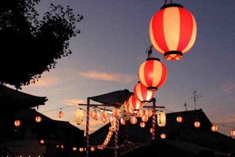 祭り、提灯
