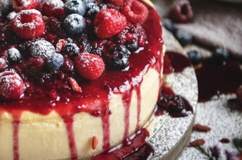 形の崩れたケーキ