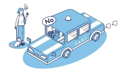 タクシーの乗車拒否