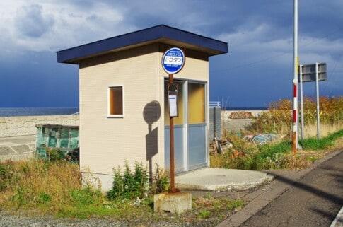 過疎地域のバス停